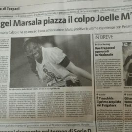 Parlano di noi…..joelle m'bra oggi sul Giornale di Sicilia
